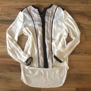 Helmut Lang blouse button down shirt striped S